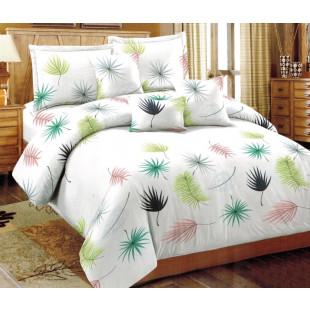 Lenjerie de pat bumbac finet, pentru 2 persoane, cu 6 piese, Ralex Pucioasa - Lenna