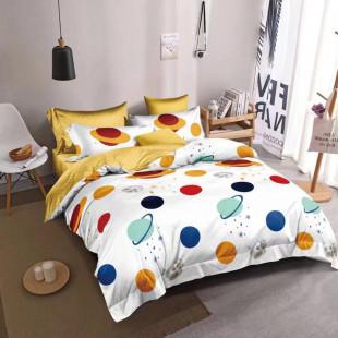 Lenjerie de pat bumbac finet, pentru 2 persoane, cu 6 piese, Ralex Pucioasa - Lorena