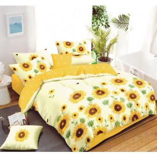 Lenjerie de pat bumbac finet, pentru 2 persoane, cu 6 piese, Ralex Pucioasa - Melania