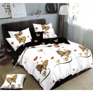 Lenjerie de pat bumbac finet, pentru 2 persoane, cu 6 piese, Ralex Pucioasa - Monalisa
