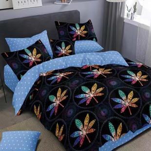 Lenjerie de pat bumbac finet, pentru 2 persoane, cu 6 piese, Ralex Pucioasa - Nadina