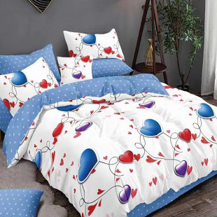 Lenjerie de pat bumbac finet, pentru 2 persoane, cu 6 piese, Ralex Pucioasa - Nina