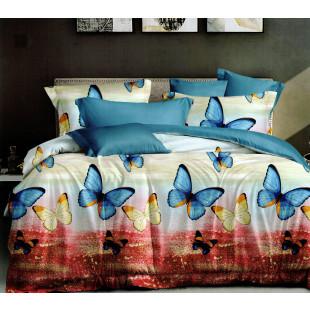 Lenjerie de pat bumbac finet, pentru 2 persoane, cu 6 piese, Ralex Pucioasa Janine