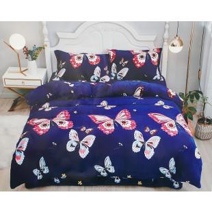 Lenjerie de pat cocolino, pufoasa, pentru 2 persoane, cu 4 piese - Karine
