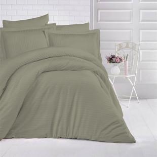Lenjerie de pat Damasc, Horeca, din bumbac 100%, pentru 2 persoane, Ralex Pucioasa - Oana