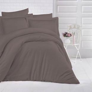 Lenjerie de pat Damasc, (Horeca) din bumbac 100%, pentru 2 persoane, Ralex Pucioasa - Elena