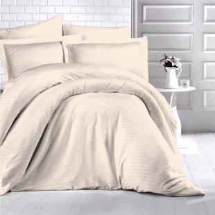 Lenjerie de pat Damasc, (Horeca) din bumbac 100%, pentru 2 persoane, Ralex Pucioasa - Sidonia