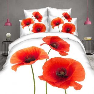 Lenjerie de pat din bumbac, 3D digital print, pentru 2 persoane, 4 piese, Ralex Pucioasa - Felicia