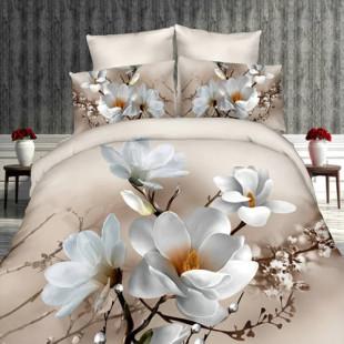 Lenjerie de pat din bumbac, 3D digital print, pentru 2 persoane, 4 piese, Ralex Pucioasa - Simina