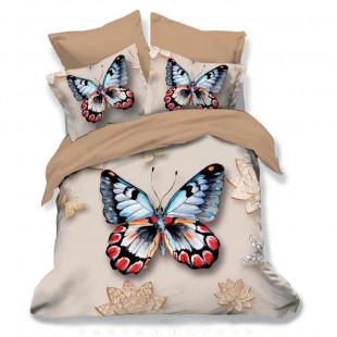 Lenjerie de pat din bumbac, 3D digital print, pentru 2 persoane, 6 piese, Ralex Pucioasa - Luisa