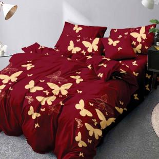 Lenjerie de pat din bumbac, ELVO, pentru 2 persoane, 4 piese, Ralex Pucioasa - Alexia