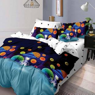 Lenjerie de pat din bumbac, ELVO, pentru 2 persoane, 4 piese, Ralex Pucioasa - Alina