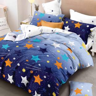 Lenjerie de pat din bumbac, ELVO, pentru 2 persoane, 4 piese, Ralex Pucioasa - Carla
