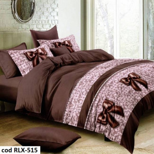 Lenjerie de pat din bumbac, ELVO, pentru 2 persoane, 4 piese, Ralex Pucioasa - Dariana