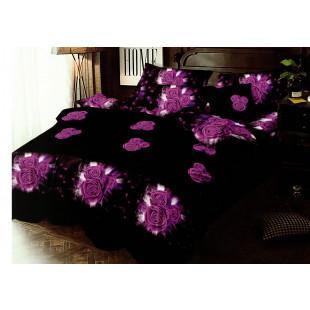 Lenjerie de pat din bumbac, ELVO, pentru 2 persoane, 4 piese, Ralex Pucioasa - Dina