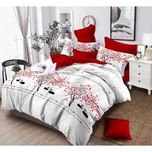 Lenjerie de pat din bumbac, ELVO, pentru 2 persoane, 4 piese, Ralex Pucioasa - Dorina