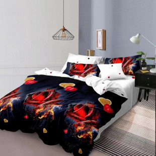 Lenjerie de pat din bumbac, ELVO, pentru 2 persoane, 4 piese, Ralex Pucioasa - Hadasa