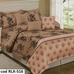 Lenjerie de pat din bumbac, ELVO, pentru 2 persoane, 4 piese, Ralex Pucioasa - Hanna