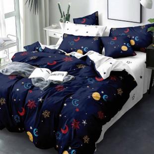 Lenjerie de pat din bumbac, ELVO, pentru 2 persoane, 4 piese, Ralex Pucioasa - Lora