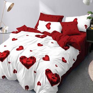 Lenjerie de pat din bumbac, ELVO, pentru 2 persoane, 4 piese, Ralex Pucioasa - Melania