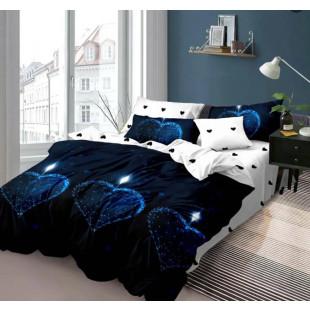 Lenjerie de pat din bumbac, ELVO, pentru 2 persoane, 4 piese, Ralex Pucioasa - Monica