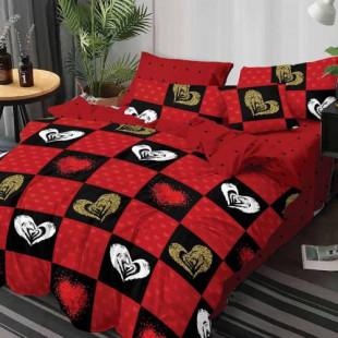 Lenjerie de pat din bumbac, ELVO, pentru 2 persoane, 4 piese, Ralex Pucioasa - Olivia