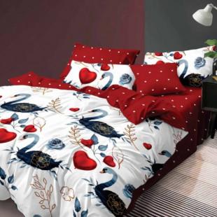 Lenjerie de pat din bumbac, ELVO, pentru 2 persoane, 4 piese, Ralex Pucioasa - Sonia