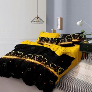 Lenjerie de pat din bumbac, ELVO, pentru 2 persoane, 4 piese, Ralex Pucioasa - Vanesa