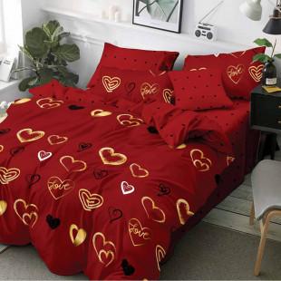 Lenjerie de pat din bumbac, ELVO, pentru 2 persoane, 4 piese, Ralex Pucioasa - Violeta