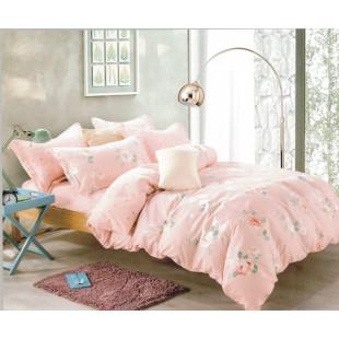 Lenjerie de pat din bumbac satinat pentru 1 persoana, cu 3 piese - Alisha