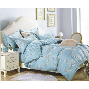 Lenjerie de pat din bumbac satinat pentru 1 persoana, cu 3 piese - Beatrice