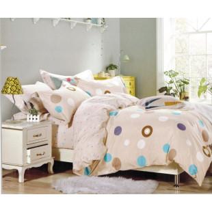 Lenjerie de pat din bumbac satinat pentru 1 persoana, cu 3 piese - Ioana