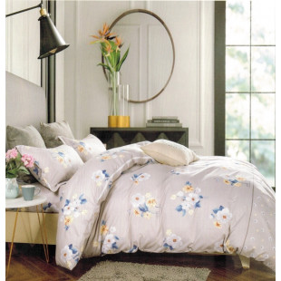 Lenjerie de pat din bumbac satinat pentru 1 persoana, cu 3 piese - Nicole