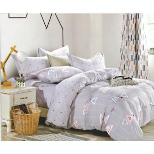 Lenjerie de pat din bumbac satinat pentru 1 persoana, cu 3 piese - Roana