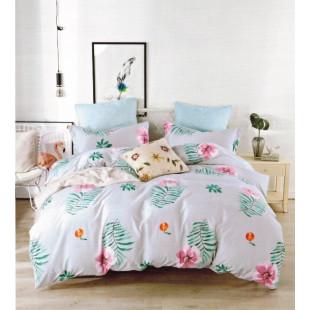 Lenjerie de pat din bumbac satinat pentru 1 persoana, cu 3 piese - Simina