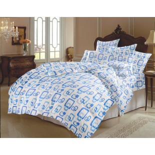 Lenjerie de pat dublu, din bumbac 100% neted, pentru 2 persoane, cu 4 piese Armonia Textil - Beatrice