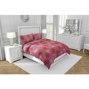 Lenjerie de pat dublu, din bumbac 100% neted, pentru 2 persoane, cu 4 piese Armonia Textil - Luisa