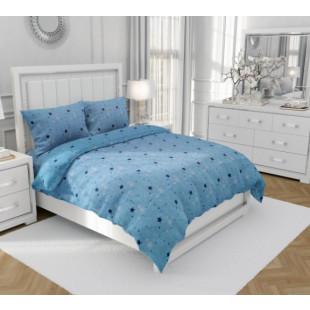 Lenjerie de pat matrimonial, din bumbac 100% neted, pentru 2 persoane, cu 4 piese Armonia Textil - Carla