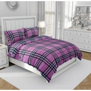 Lenjerie de pat dublu, din bumbac 100% neted, pentru 2 persoane, cu 4 piese Armonia Textil - Vanina