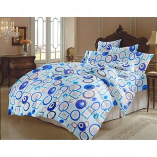 Lenjerie de pat matrimonial, din bumbac 100% neted, pentru 2 persoane, cu 4 piese Armonia Textil - Zena
