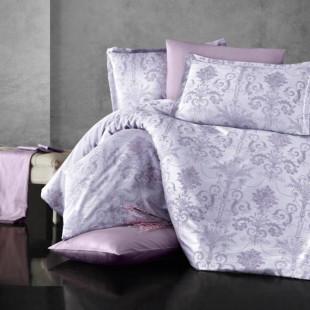 Lenjerie de pat dublu Jacquard Satin Deluxe Clasy, pentru 2 persoane - Delia