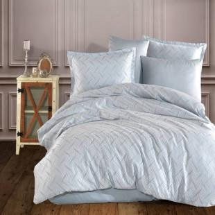 Lenjerie de pat dublu Jacquard Satin Deluxe Clasy, pentru 2 persoane - Lenna