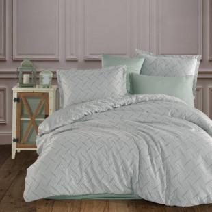 Lenjerie de pat dublu Jacquard Satin Deluxe Clasy, pentru 2 persoane - Patricia