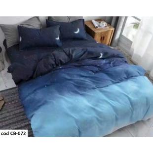Lenjerie de pat dublu pentru 2 persoane din bumbac finet cu 4 piese - Aneta