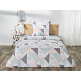 Lenjerie de pat dublu, pentru 2 persoane din bumbac Ranforce - Lisa