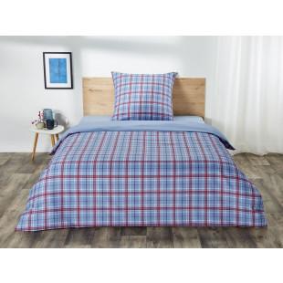 Lenjerie de pat dublu, pentru 2 persoane din bumbac Ranforce - Marina