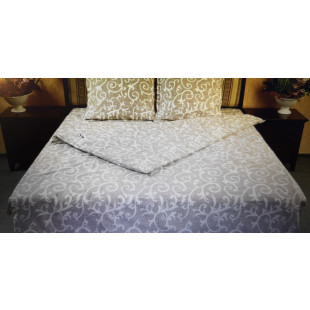 Lenjerie de pat matrimonial, din bumbac 100% neted, pentru 2 persoane, cu 4 piese Armonia Textil - Magda