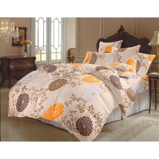 Lenjerie de pat matrimonial, din bumbac 100% neted, pentru 2 persoane, cu 4 piese Armonia Textil - Selena