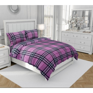 Lenjerie de pat matrimonial, din bumbac 100% neted, pentru 2 persoane, cu 4 piese Armonia Textil - Elisa