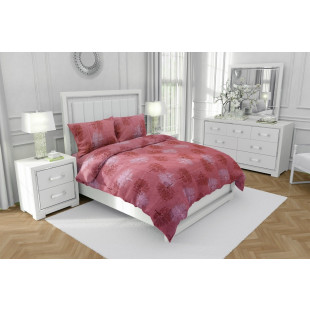 Lenjerie de pat matrimonial, din bumbac 100% neted, pentru 2 persoane, cu 4 piese Armonia Textil - Lisa